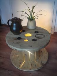 Upcycling Furniture - wooden cable spool table 40 upcycled furniture ideas