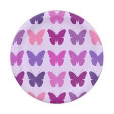 purple butterfly plates zazzle