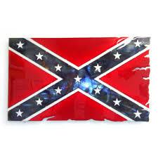 confederate flag metal art