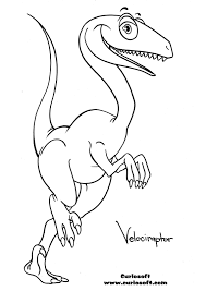 velociraptor coloring pages u2013 barriee