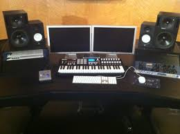 Studio Desk Furniture by Music Production Desk Plans Best Home Furniture Decoration