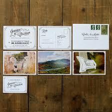 postcard wedding invitations vintage photo postcard wedding invitation feel wedding