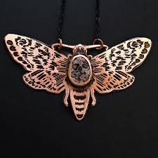 necklace stone setting images Moth necklace jpeg