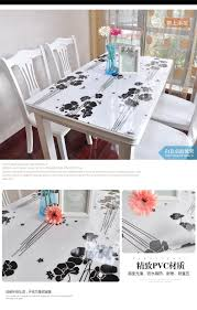 Dining Room Table Covers Protection by Pvc Waterproof Cloth Soft Translucent Glass Plastic Table Cloth 1mm