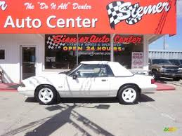 1993 mustang lx 5 0 1993 vibrant white ford mustang lx 5 0 convertible 32466810