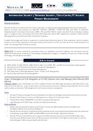 It Risk Management Resume Cv Of Mohan M
