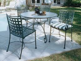 Rod Iron Patio Chairs Patio Ideas Rod Iron Patio Furniture With Stripes Pattern Of