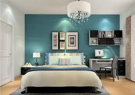dark teal bedroom home design interior