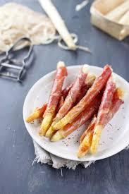 comment cuisiner des asperges blanches asperges blanches en manteau de jambon cru 30 recettes d apéritif