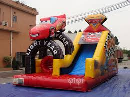 disney pixar cars obstacle course qiqi toys inflatables