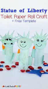 statue of liberty toilet paper roll craft and free template kids