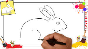 how to draw a rabbit simple u0026 easy step by step for kids