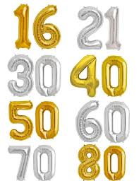 balloon decorations mylar number letter gold 40 number 60 mylar number letter balloons birthday balloon