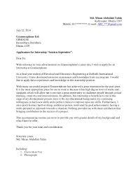 writing tips cover letter for internship recentresumes com