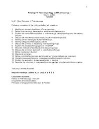 nursing 310 pathophysiology and pharmacology i