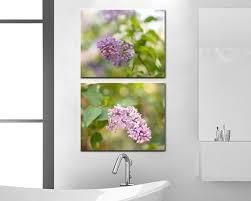 Lavender Bathroom Set Lilac Canvas Wrap Set Light Purple Bathroom Decor Cottage Chic