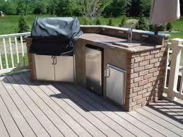 Outdoor Kitchen Island Kits Outdoor Kitchen Wonderful Grey Stainless Steel Grill Island