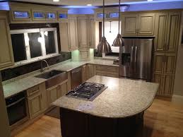 kitchen 2 color painted concrete floor ideas design with cool