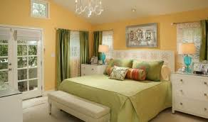 Yellow Wall Sconce Simple Bedroom Using Sage Green Wall Colors And Modern Furniture