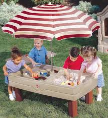 step 2 water table with umbrella sand and water table with lid umbrella table designs