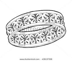 ring sketch hand drawn ring jewelry stock vector 436137358