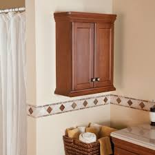 Luxor Cabinets Charming Wooden Bathroom Wall Cabinets With Colonial Bronze Knobs