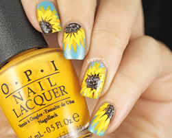 31dc2014 yellow nails sunflower nail art copycat claws