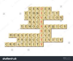original crossword diversity crossword puzzle in a white