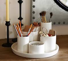 Ceramic Desk Accessories Ceramic All In One Organizer Pottery Barn