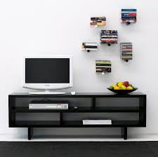 Wall Mounted Dvd Shelves Wall Mounted Shelf Contemporary Wooden For Dvds Piniwini