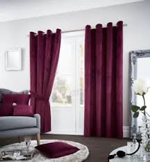Aubergine Curtains New Aubergine Purple Soft Velour Eyelet Ring Top Fully Lined
