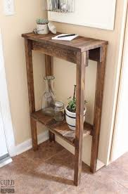 Build Wooden End Table by Best 25 Corner Table Ideas On Pinterest Diy Storage Bed Table