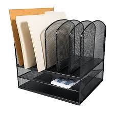Black Mesh Desk Organizer Adir Office Black Mesh Desk Organizer With Two Horizontal And Six