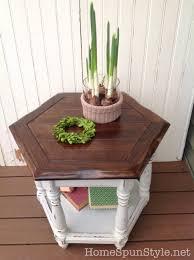 side table makeover u2013 home spun style