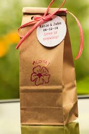 custom hawaiian kona coffee wedding favors shower favors