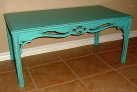 Refinishing Coffee Table Ideas by Antique Turquoise Coffee Table Facelift Furniture
