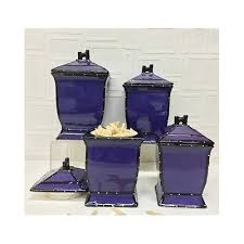 purple canister set kitchen purple canister set 4 pc ceramic containers coffee tea sugar flour