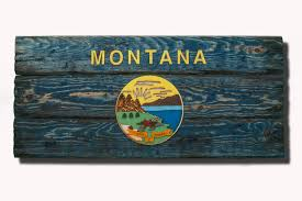 distressed wood home decor montana state flag handmade distressed wooden vintage art
