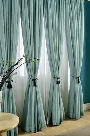 Teal Window Curtains Windows Curtains Delicate Light Teal Linen Blend Sheer Curtain