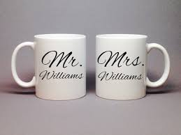 wedding gift mugs unique wedding gift idea bridal shower gift mr and mrs coffee