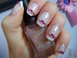 simple nail gem designs amazing nail art ideas with rhinestones