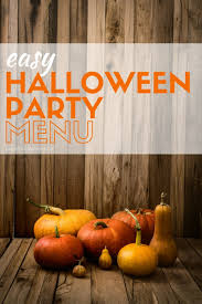 easy halloween party menu garnish with lemon