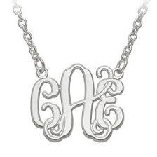 3 initial monogram necklace silver monogram necklaces necklaces zales
