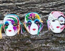 ceramic mardi gras masks and groom wedding mask set mardi gras masquerade style