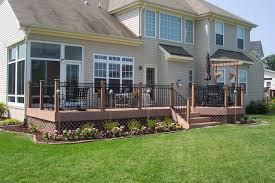 trex composite deck with trex composite rail archadeck outdoor
