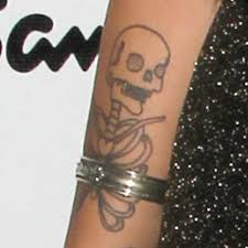 6 celebrity skeleton tattoos steal her style