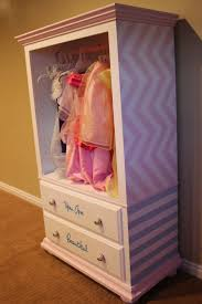 diy dress up cabinet out of an old entertainment center my girls