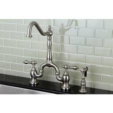 overstock kitchen faucets kingston brass high spout satin nickel bridge