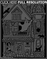 free coloring pages of halloween haunted house within free printable halloween coloring pages haunted house jpg
