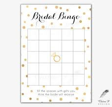 black u0026 gold bridal shower bingo cards printed or printable